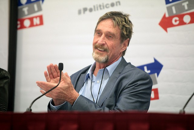 John McAfee, One of Bitcoin's Biggest Advocates, Tells Cryptocurrency Investors not to Give Up