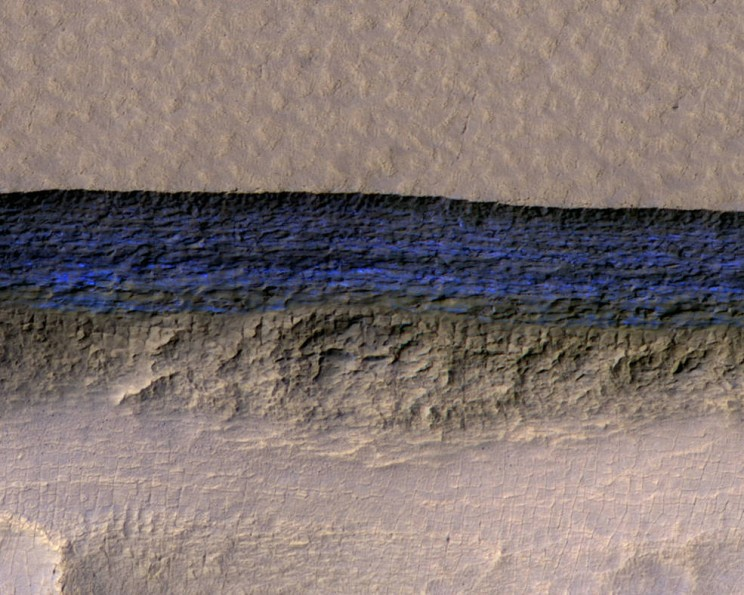 Scientists Find Thick Ice Below the Surface of Mars