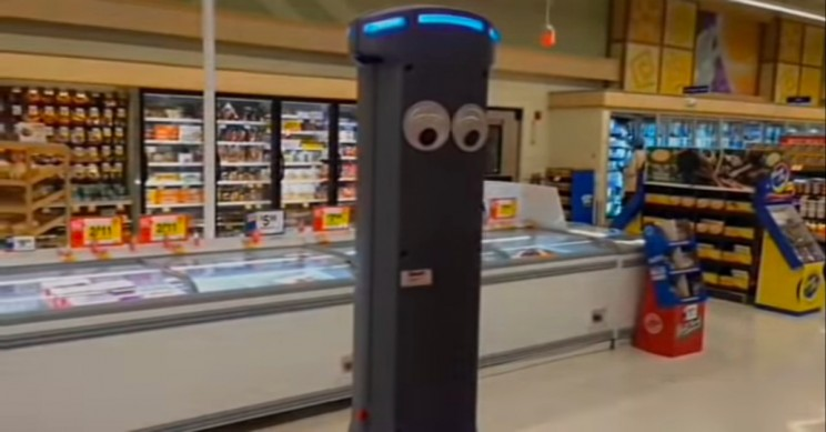 Marty the Robot Helps Grocery Store Workers Spot Spills