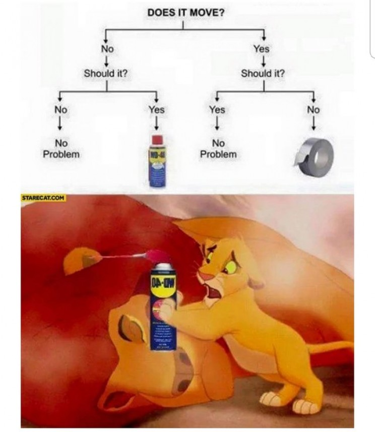 great engineering memes wd40 lion king