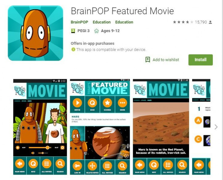 science apps for smartphones BrainPOP