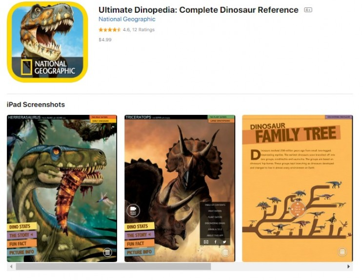 science apps for smartphones Dinopedia