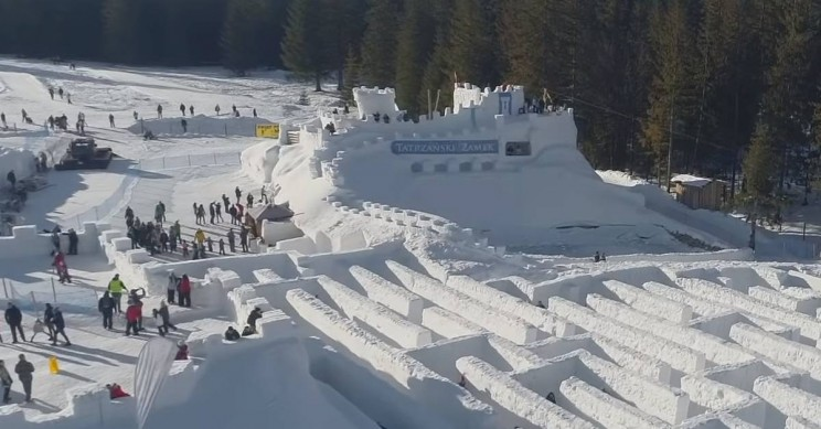 Get Lost in the World's Largest Snow Labyrinth in Poland