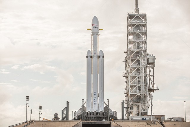 SpaceX Reveals Latest Images of Falcon Heavy, the World's Most Powerful Operational Rocket