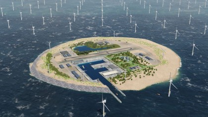 Dutch Utility Plant Plans to Build a Giant Wind Farm Island in North Sea