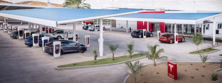 Elon Musk Promises to Add Roller Skating, Diner and More to Tesla Supercharging Station