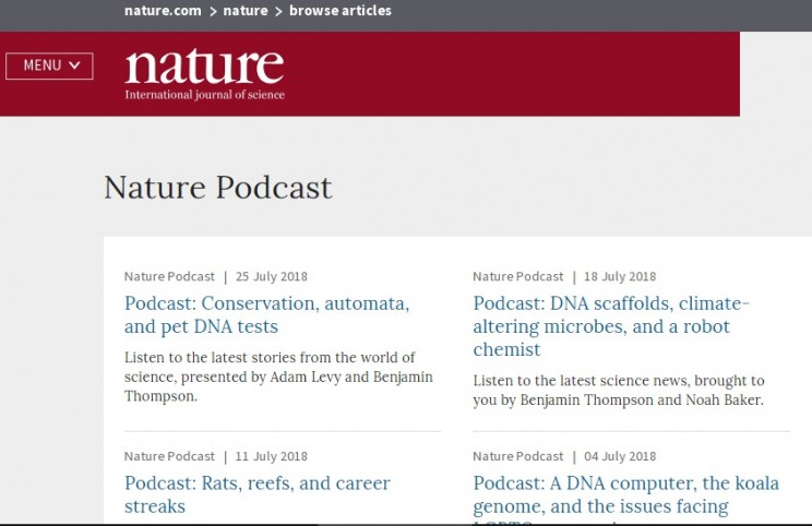 The Nature Podcast Science Podcast