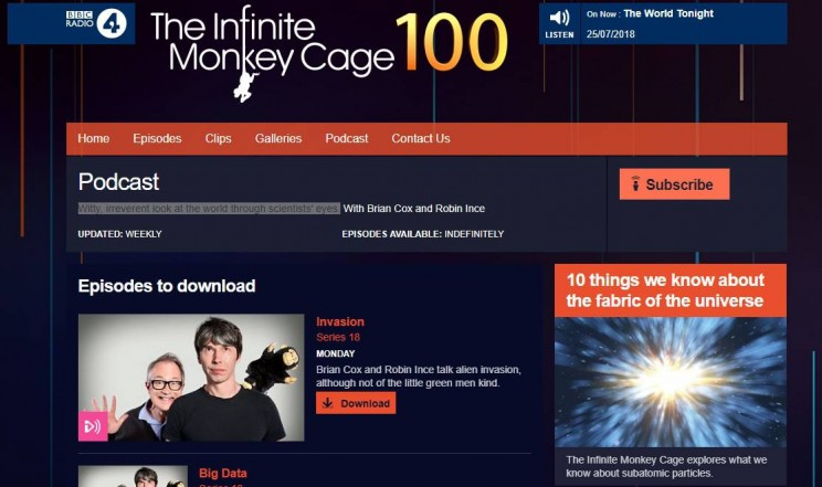 The Infinite Monkey Cage Science Podcast