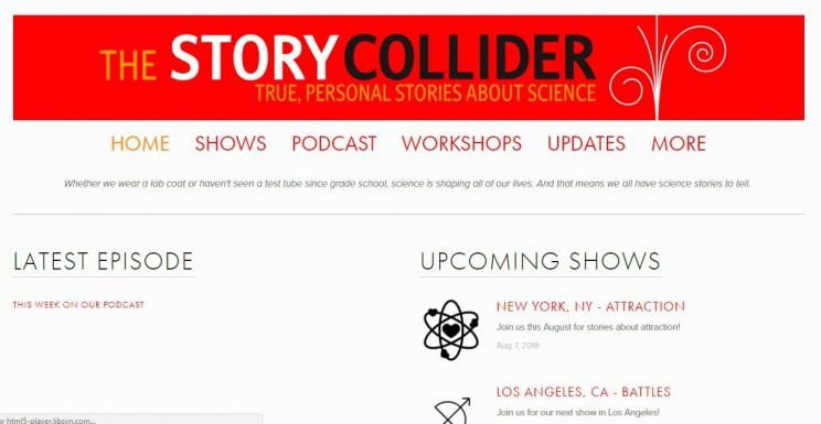 he Story Collider Science Podcast
