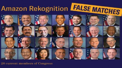 Politicians Angry After Amazon Facial Recognition AI Falsely Matches 28 Congress Members to Criminals