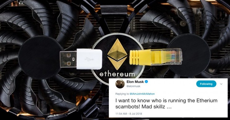 "Elon Musk Tweets About ""Mad Skillz"" of Ethereum Scam Bot Impersonators"