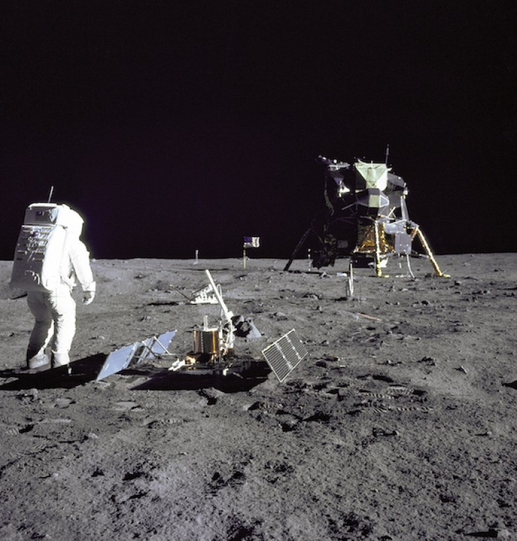 Apollo 11 landing on moon surface