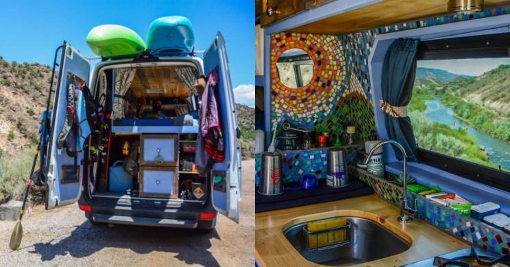 Creative Couple Transform Mercedes Sprinter Van into a Luxurious Tiny Home