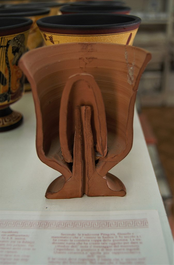 The Pythagorean Cup - The Cup That Spills Your Drink When You Get Too Greedy