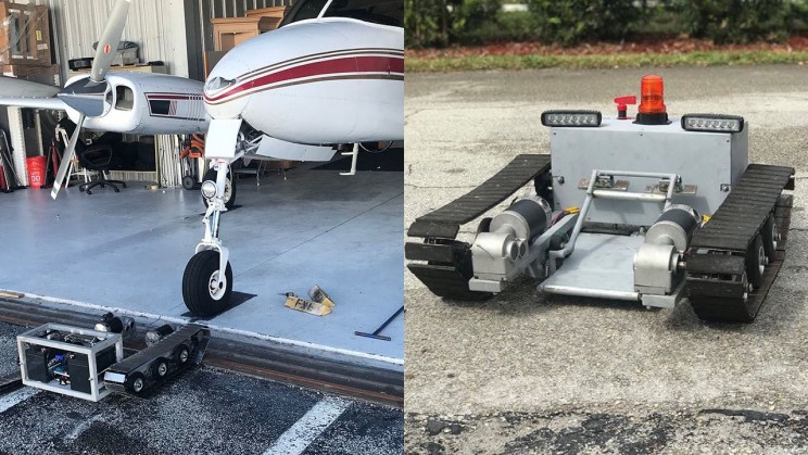This iPhone-Controlled Electric Tug Can Pull a Cessna