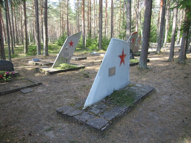 This Soviet Military Cemetery is Filled with Aircraft Fins as Grave Markers