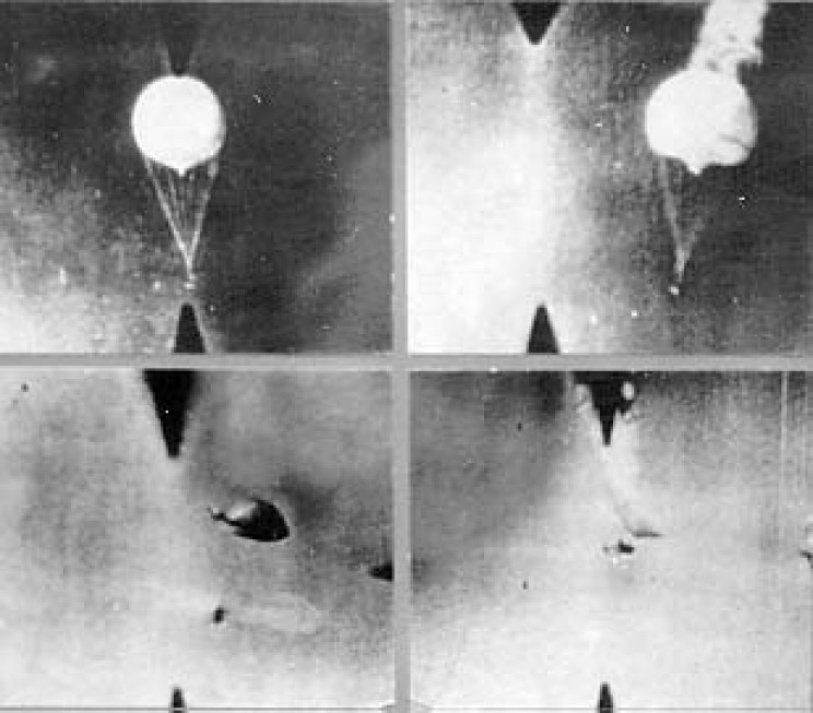 Balloon bombs spotted