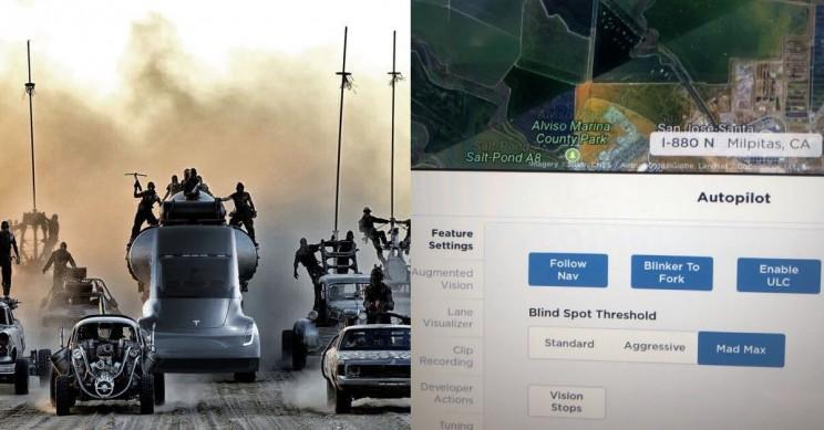 "Elon Musk Reveals Tesla Autopilot's Development Build Has a ""Mad Max"" Mode"
