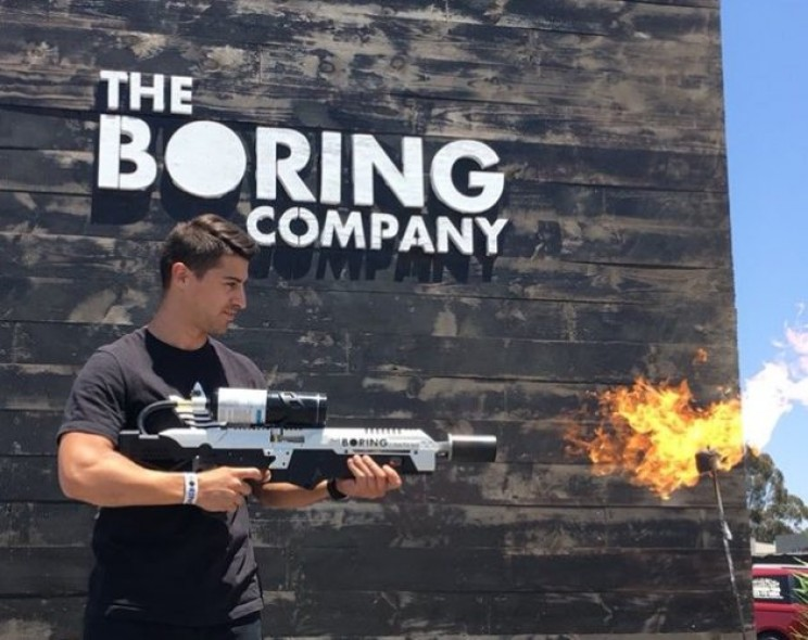 Elon Musk and the Boring Company Deliver its First 'Not a Flamethrower' Flamethrowers
