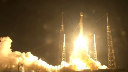 SpaceX Launches Communications Satellite into Orbit on Falcon 9 Rocket