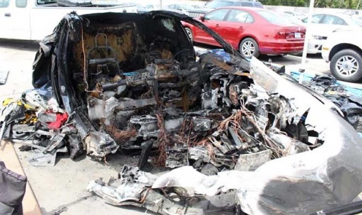 Tesla Model S Battery Ignited Twice After Crash Despite Firefighters' Best Efforts