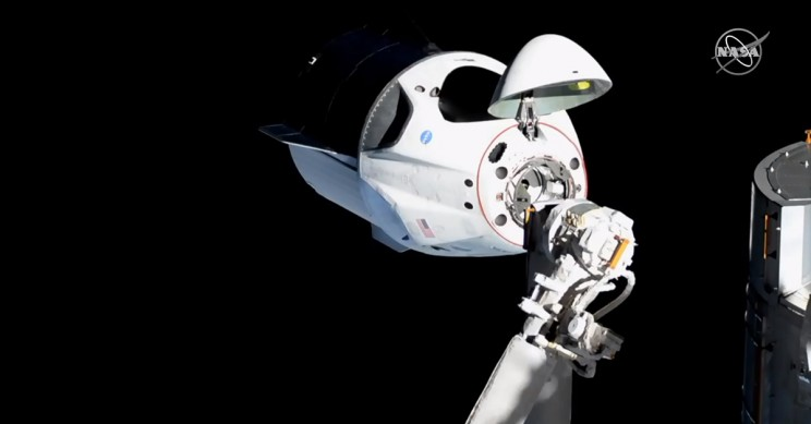SpaceX Dragon Crew Capsule Docking
