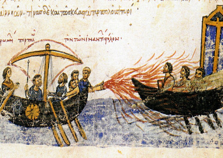 Greek Fire: The Byzantine Empire's Secret Weapon of Mass Destruction