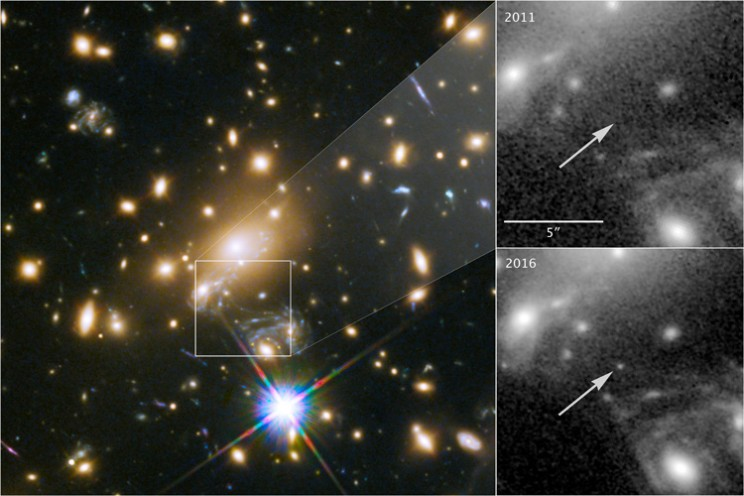 Astronomers Capture Images of Most Distant Star Ever Observed Using Cosmic Lens