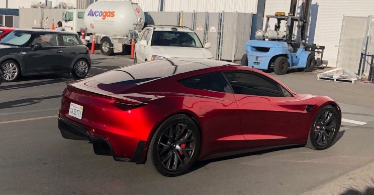 Tesla Roadster Prototype Spotted at Supercharger Station