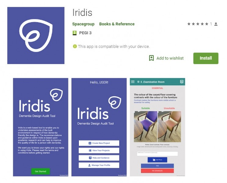 apps for alzheimers Iridis