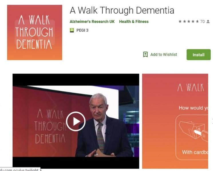 apps for alzheimers walk through