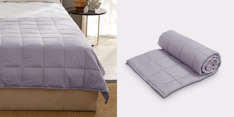 Fall Asleep Faster and Wake Up Feeling Refreshed with This Weighted Blanket