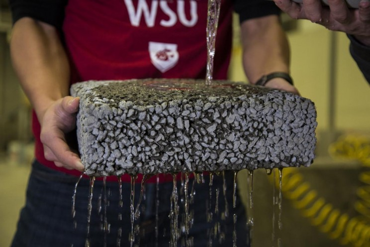 Researchers Use Carbon Fiber Waste to Strengthen Permeable Pavement