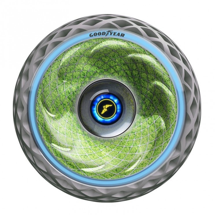 Goodyear Unveils Moss-Covered Concept Tire That Helps Improve Air Quality