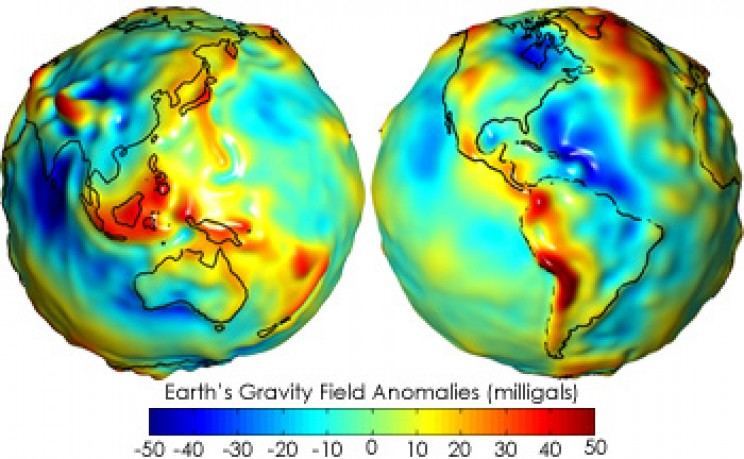 gravity facts map