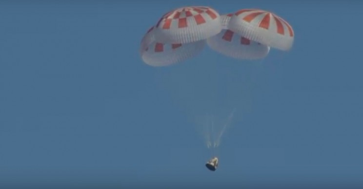 SpaceX's Dragon Crew Successfully Splashes Down