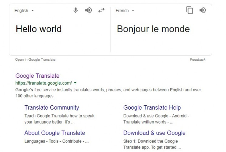 technology and language google translate