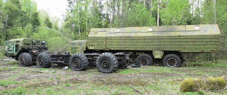 Remnants of the Cold War: An Abandoned Soviet Union Missile Launcher in a Russian Forest