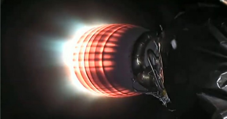 Falcon 9 Second Stage Burn