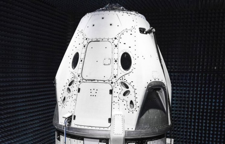 Elon Musk Shares Photo of SpaceX Crew Dragon Ship in Anechoic Chamber