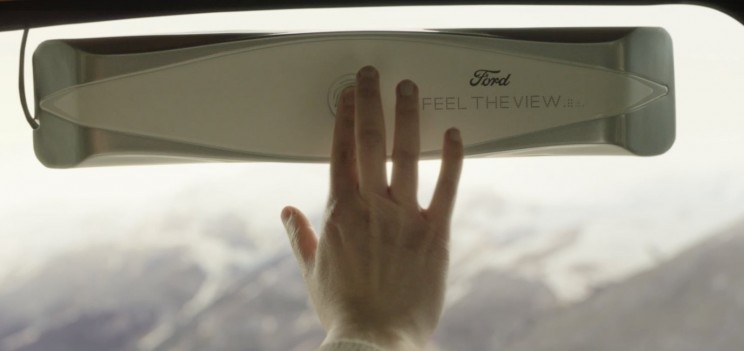 This Car Window From Ford Allows Blind Passengers to Feel the Outside View