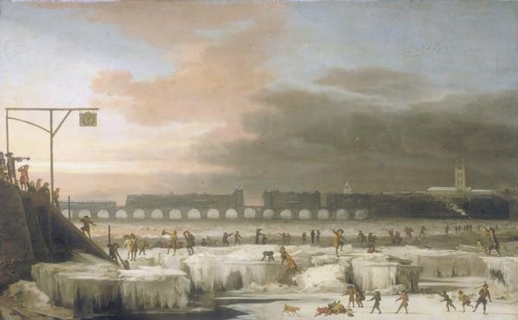 Frozen Thames River