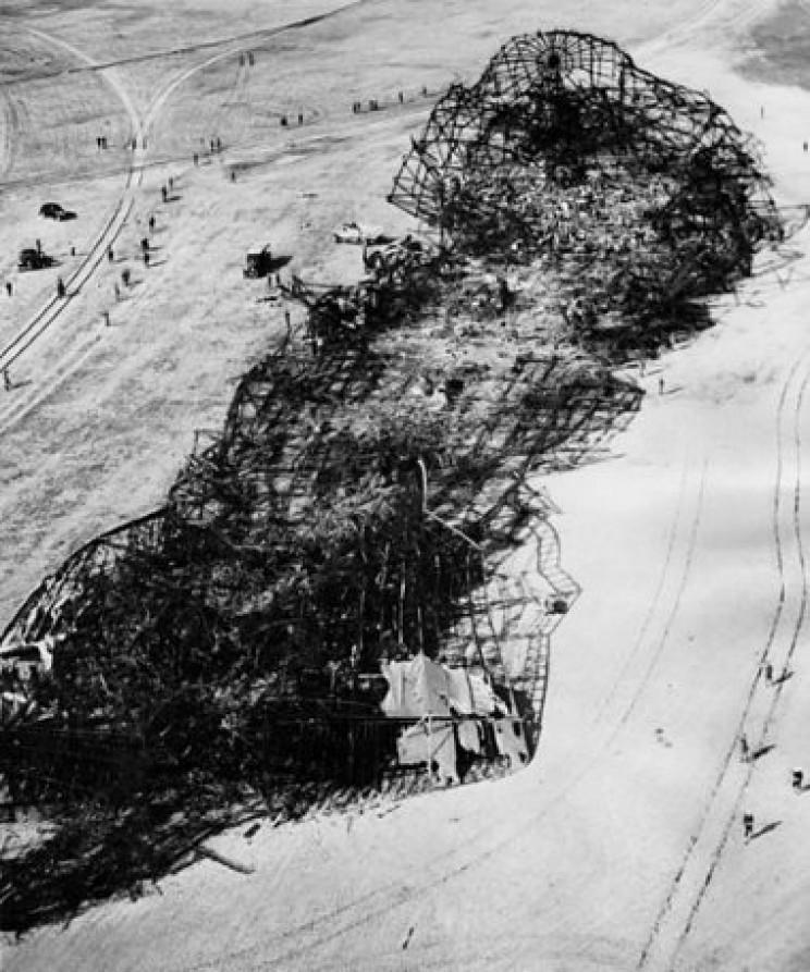 Hindenburg wreckage