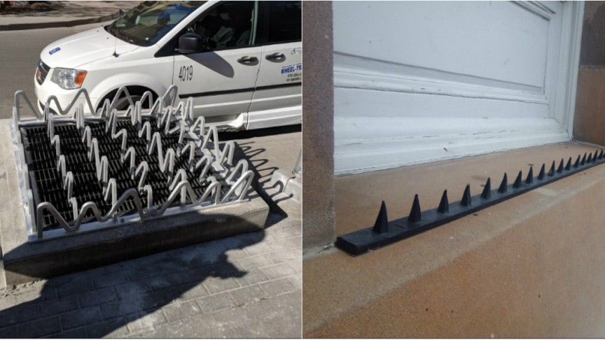 15 Examples of 'Anti-Homeless' Hostile Architecture That You