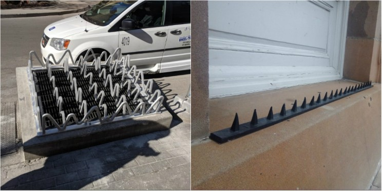 15 Examples of 'Anti-Homeless' Hostile Architecture That You Probably Never Noticed Before