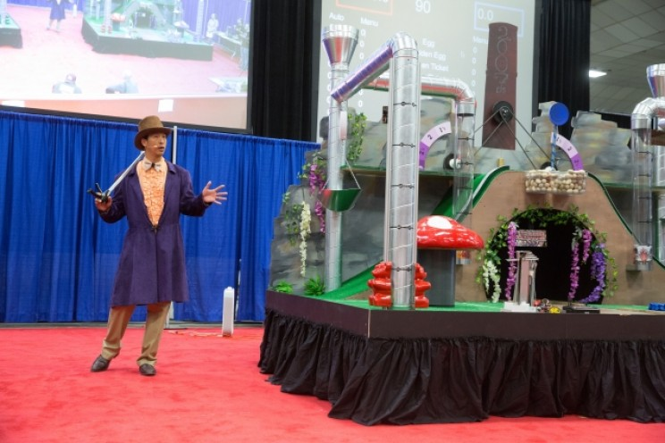 MIT Students' Robots Compete in Willy Wonka-Themed Obstacle Course