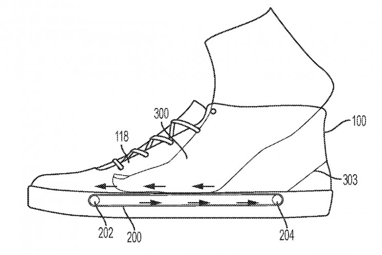 Nike Patents New Shoe Design with Miniature Treadmill Inside