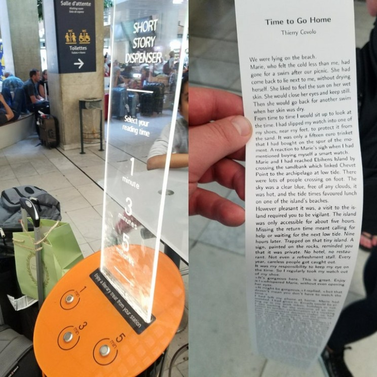 This Short Story Vending Machine Brings Literature to Unexpected Places