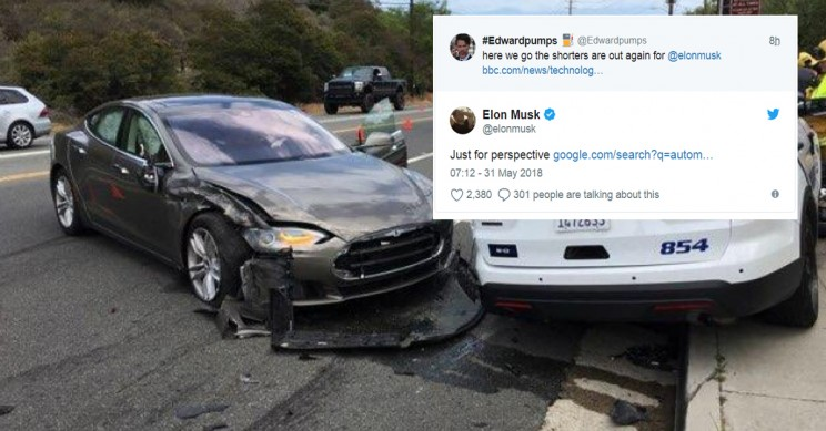 Elon Musk Offers Perspective on Traffic Deaths in Response to Tesla Police Car Crash
