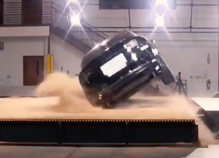 Tesla Has Released Footage of Its Failed Attempt to Rollover the Model X